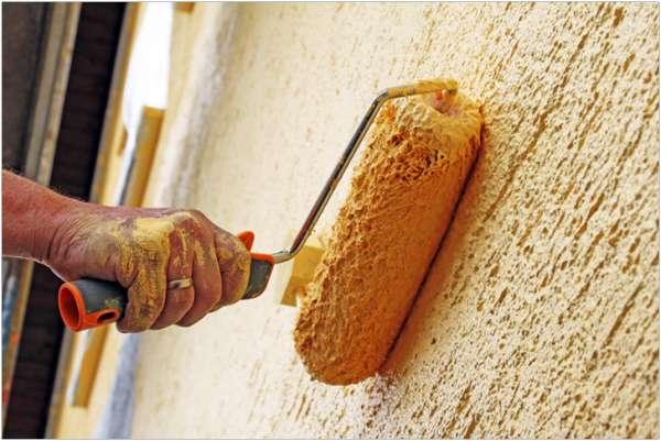 как сделать шубу на стенке краской