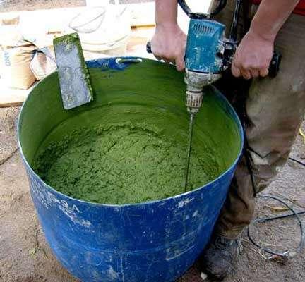 Как сделать цветной бетон своими руками 59