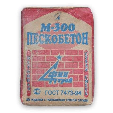 Приготовление пескобетона м300