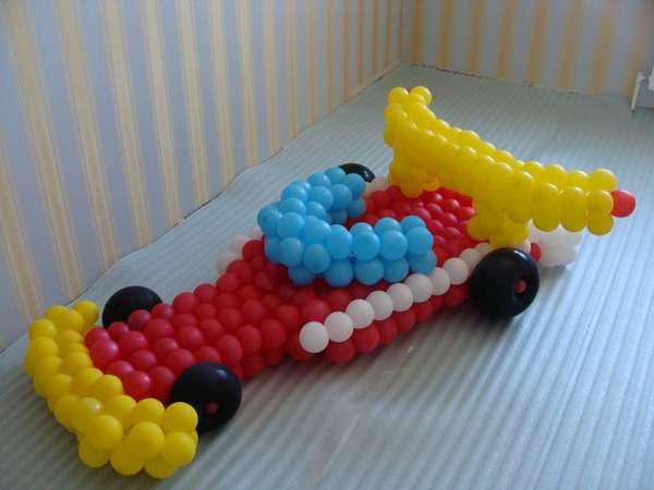 Поделки для мальчика из шаров 83