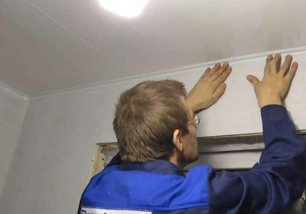 Укладка панелей пвх на потолок своими руками 2